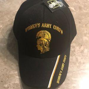 Women's Army Corps Cap, Black, Gold